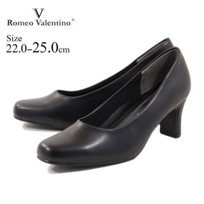 romeo valentino ロメオバレンチノ パンプス スクエアトゥリクルートパンプス vb3300 リクルート フォーマル 冠婚葬祭