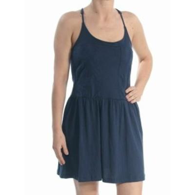 Roxy ロキシー ファッション ドレス Roxy NEW Dark Blue Size XL Junior Embroidered Halter A-Line Dress