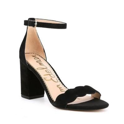 サムエデルマン レディース サンダル シューズ Odila Suede Ankle Strap Block Heel Dress Sandals