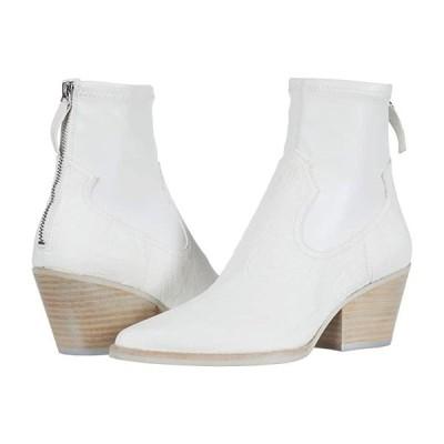 ドルチェ・ヴィータ Shanta レディース ブーツ White Embossed Leather