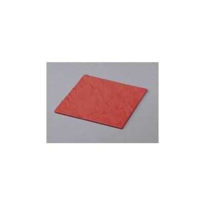 耐熱メラミン フュージョンスクウェアプレート レッド    26.9×26.9×0.8cm