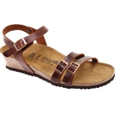 ビルケンシュトック Birkenstock レディース サンダル・ミュール シューズ・靴 Papillio Lana Leather Strappy Sandal Cognac Leather