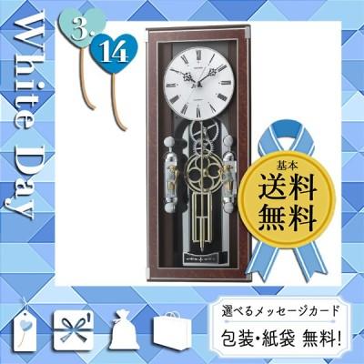 母の日 ギフト 2021 花 掛け時計 壁掛け時計 プレゼント カード 掛け時計 壁掛け時計 リズム メロディ電波からくり掛時計(30曲入)