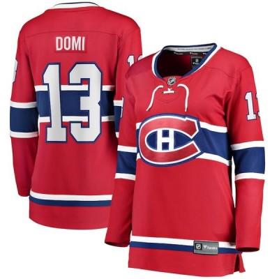 ファナティクス シャツ トップス レディース Max Domi Montreal Canadiens Fanatics Branded Women's Home Breakaway Player Jersey Red