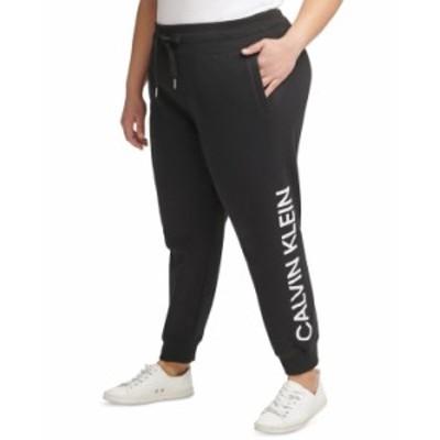 カルバンクライン レディース カジュアルパンツ ボトムス Plus Size Logo Sweatpants Black White