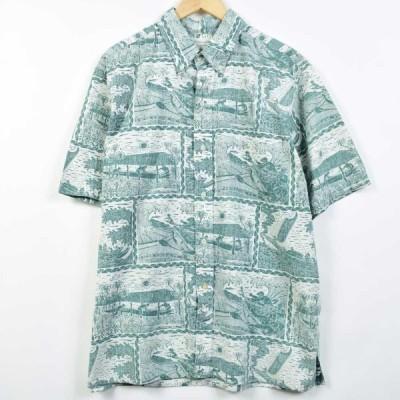 レインスプーナー ハワイアンアロハシャツ メンズXL /eaa026477