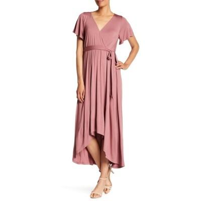 ウエスト ケイ レディース ワンピース トップス Flutter Sleeve High/Low Wrap Dress MAUVE