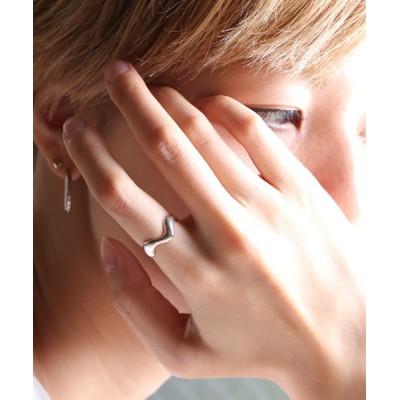 指輪 【YArKA/ヤーカ】silver925  tears wave ring[nwr]/涙モチーフ波リング シルバー925