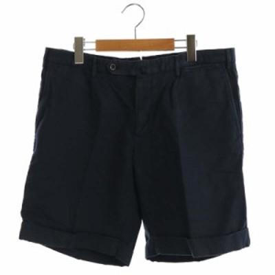 【中古】インコテックス INCOTEX SLOWEAR リネン混 ハーフパンツ ロールアップ 52 紺 /AA ■OS メンズ