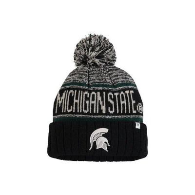 大学 NCAA トップ オブ ザ ワールド Top of the World Michigan State Spartans Black Acid Rain Cuffed Pom Knit Hat