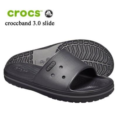 crocs クロックス クロックバンド3.0 スライド crocband3.0 slide 205733-02S ブラック シャワーサンダル 正規代理店 誕生日 ギフト プレゼント