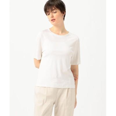 tシャツ Tシャツ シルクジャージー クルーネックプルオーバー