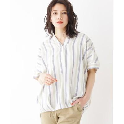 【シューラルー】 スラブドルマンスキッパーシャツ レディース オフホワイト 02(M) SHOO・LA・RUE