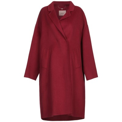 ツインセット シモーナ バルビエリ TWINSET コート ボルドー 42 ポリエステル 50% / ウール 50% コート