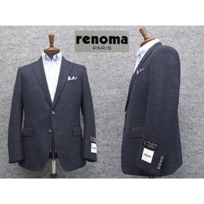 [renoma] レノマPARIS 秋冬物 ニット素材 ベーシック2釦シングルジャケット 紺系[AB体] RM8306-88