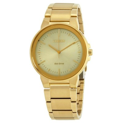 腕時計 シチズン メンズ *BRAND NEW* Citizen Men's Eco-Drive Axiom Champagne Dial Watch BJ6512-56P