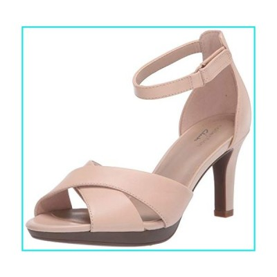 Clarks Women's Adriel Cove Heeled Sandal, Blush Leather, 75 W US【並行輸入品】