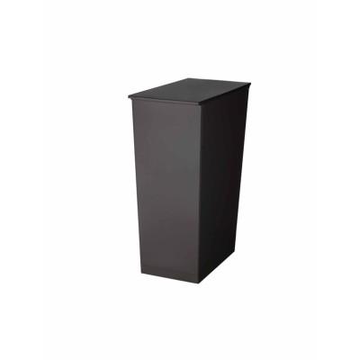 <kcud>機能美を追求したスリムなゴミ箱 シンプルスリム/ブラック