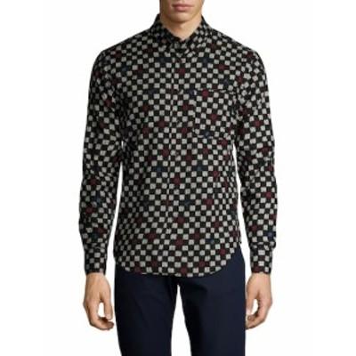 ネイキッド&フェイマス Men Clothing Printed Patch Pocket Regular Sportshirt