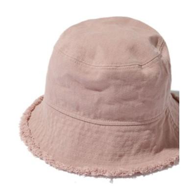 SPINNS / ダメージ加工バケットハット WOMEN 帽子 > ハット