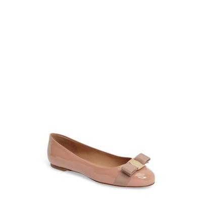 サルヴァトーレ フェラガモ SALVATORE FERRAGAMO レディース スリッポン・フラット シューズ・靴 Varina Leather Flat New Blush Patent