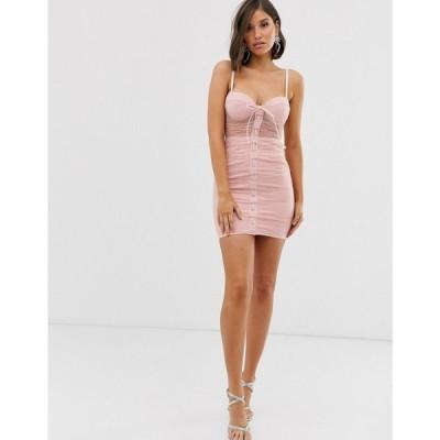 ラーレ Rare レディース ワンピース ワンピース・ドレス London lace up diamonte mini dress in pink Pink