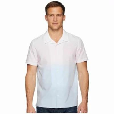 カルバンクライン 半袖シャツ Short Sleeve Ombre Camp Shirt Plush Pink