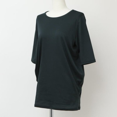 PUPULA ププラ   4色( 緑 紺 白 黒)バルーンシルエットの半袖カットソー  半袖Tシャツ