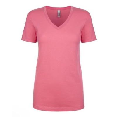 ユニセックス 衣類 トップス The Next Level Ladies Ideal V - HOT PINK - XS Tシャツ