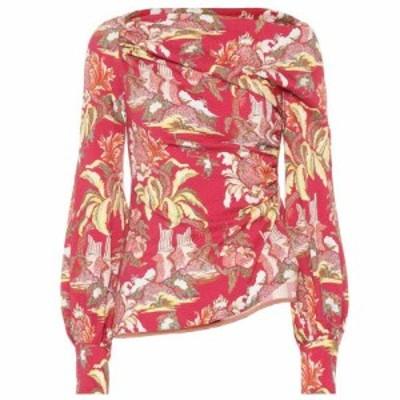 ピーター ピロット Peter Pilotto レディース ブラウス・シャツ トップス Asymmetrical printed blouse Flower Canopy Red