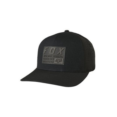帽子 フォックス Fox Racing Men's Hell Fast Flexfit Hat Black Headwear Baseball Cap Apparel