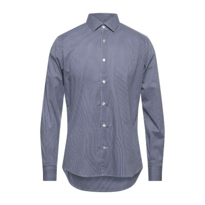 DOMENICO TAGLIENTE シャツ ダークブルー 41 コットン 98% / ポリウレタン 2% シャツ