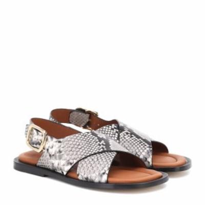 ジョゼフ Joseph レディース サンダル・ミュール シューズ・靴 snake-effect leather sandals Crusca