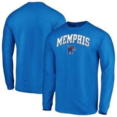 ユニセックス スポーツリーグ アメリカ大学スポーツ Memphis Tigers Fanatics Branded Campus Long Sleeve T-Shirt - Royal Tシャツ