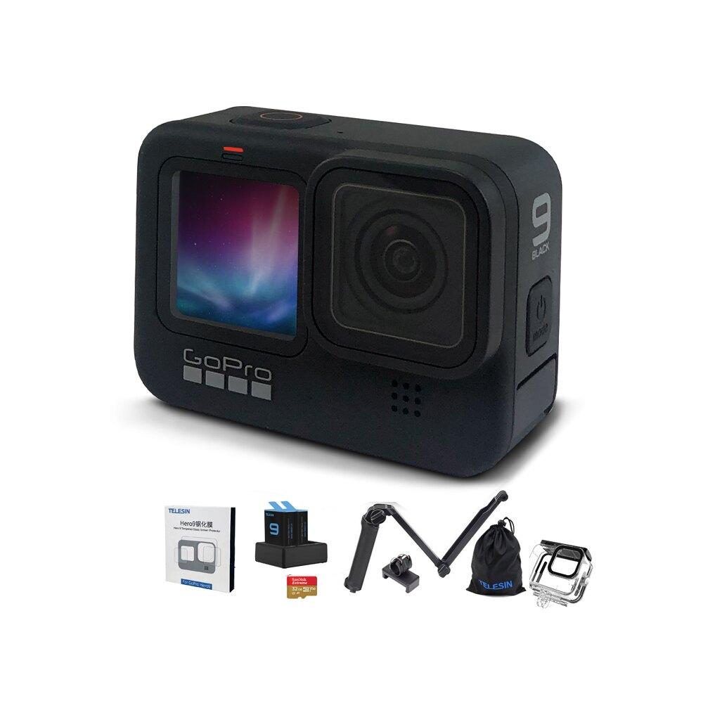滿3500折350 [七月全館97折] Gopro Hero 9 Black 新手必備升級組 組合包 基本套件 運動攝影機