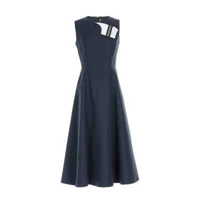 CALVIN KLEIN 205W39NYC 7分丈ワンピース・ドレス ブルー 44 コットン 65% / シルク 35% 7分丈ワンピース・ドレス