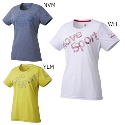 デサント レディース Tシャツ 半袖 トレーニング サンスクリーンハーフスリーブシャツ DMWMJA50 メール便利用可