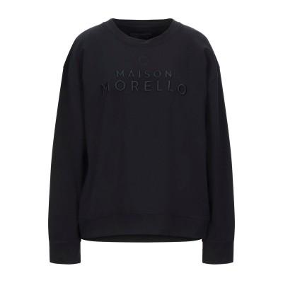 フランキー モレロ FRANKIE MORELLO スウェットシャツ ブラック XS コットン 95% / ポリウレタン 5% スウェットシャツ