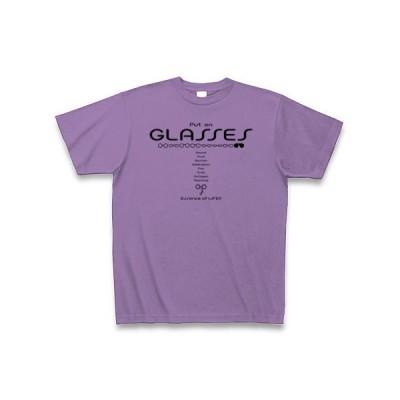 メガネタイプ Tシャツ(ライトパープル)