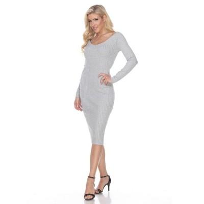 ホワイトマーク ワンピース トップス レディース Women's Destiny Sweater Dress Grey