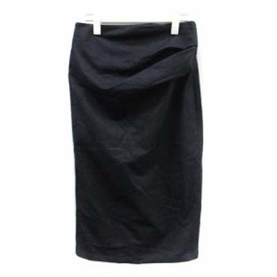【中古】未使用品 マックスマーラ ウィークエンドライン スカート タイト ミモレ デニム S 紺 ネイビー /YI37