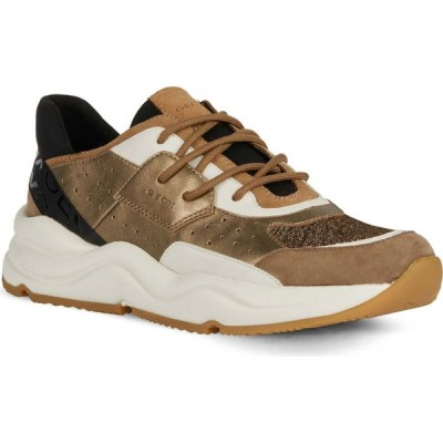ジェオックス GEOX レディース スニーカー シューズ・靴 Topazio Sneaker Dark Beige/Tobacco Leather