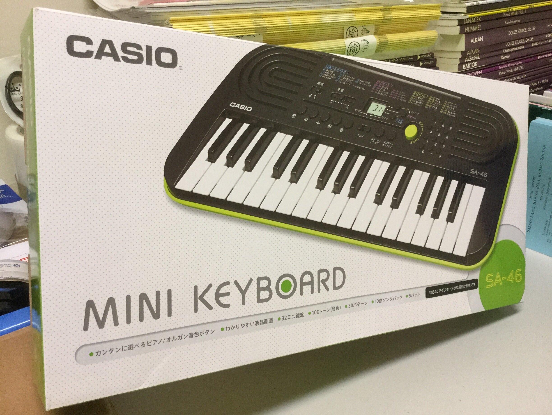 【音樂相關商品】CASIO卡西歐32鍵迷你電子琴SA-46(代購)