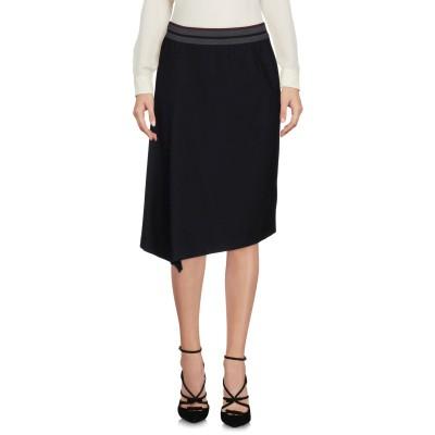 SONIA DE NISCO ひざ丈スカート ブラック 40 レーヨン 70% / ナイロン 25% / ポリウレタン 5% ひざ丈スカート