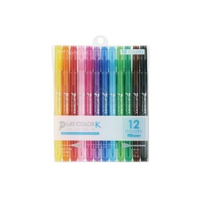 プレイカラーK 極細・太字 水性マーカー 12色セット GCF-011 トンボ鉛筆