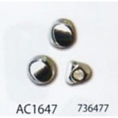 メタルビーズ トルネ 4mm(穴の大きさ:約2mm) シルバー AC1647 メルヘンアート 【KY】