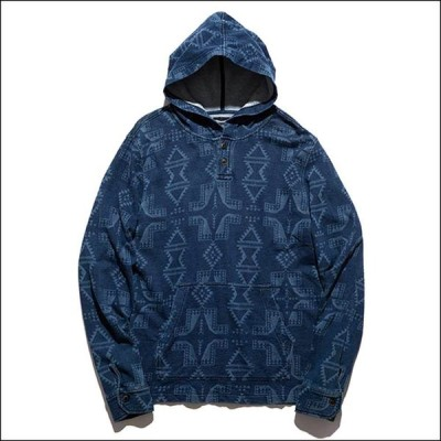 """2021SS新作 ROARK REVIVAL / """"THE FES PONCHO"""" / RF243-IND ロアークリバイバル Tシャツ 長袖 パーカー ネイティブ 総柄 春夏 ロンハーマン"""