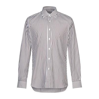 XACUS シャツ ブラウン 45 コットン 100% シャツ