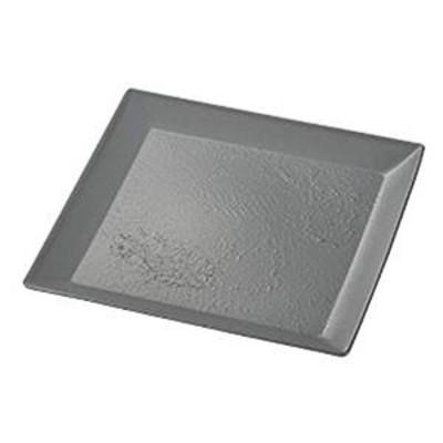 Craft art 大皿 角盛皿 ストーングレー 26×26×2.2cm クラストアート 宮本産業