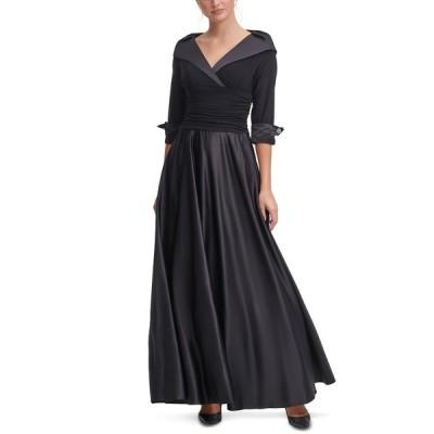 ジェシカハワード ワンピース トップス レディース Portrait-Collar Gown Black